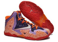 Nike Lebron 11 Varisty Red Purple Blue 616175 304