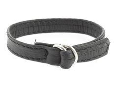 Erotic Fashion ra7412 Penisring, schwarz Leder Verstellbar, 1er-Pack (1 x 1 Stück)