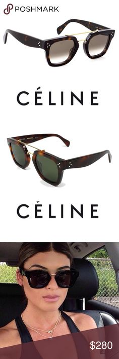 842d221932a8 New Authentic Celine Bridge Sunglasses Tortoise New Celine Bridge CL 41077 S  are a great