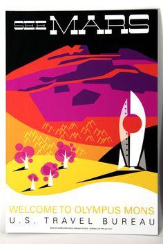 Martian Travel Poster