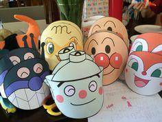 Anpanman, Baikinman masks for kids to wear at birthday party.