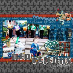 Digital Scrapbook Kit - Great Escape: New Orleans - Kit |...