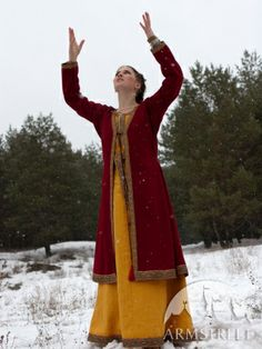 Yes it's for sale. Helga Medieval Flax Linen Dress and Chemise, Wool Coat Love it!