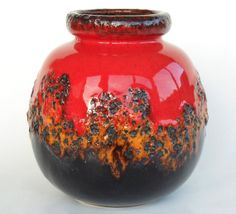 Fat lava Scheurich vase 28419 Fat Lava era West German by Coollect