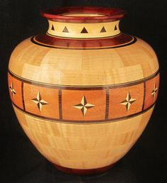 Bill McQuitty - Vase Number 65 Segmented Woodturning http://www.woodturningdesigns.com/