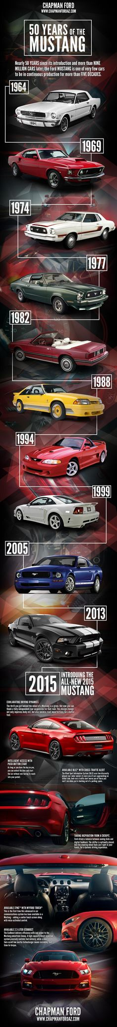 50 Years of the Ford Mustang Infographic Now, that's what I'm talking about.