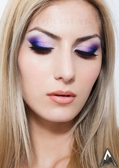 beautiful make-up(watercolours technique)