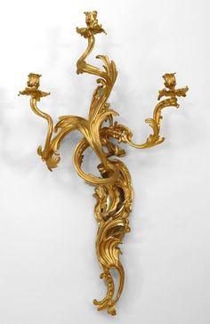 French Louis XV lighting sconces gilt
