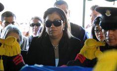 """Honduras: """"Solo espero que el Señor haga justicia"""": viuda de Arístides González Se abstuvo de ofrecer entrevistas a los medios por las amenazas de las que aún es objeto. Lesly Portillo, viuda de Julián A. González."""