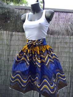 patron couture jupe africaine