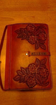 Kindle cover for Alison.  By Beau Cottrell - Beauvine Leather.