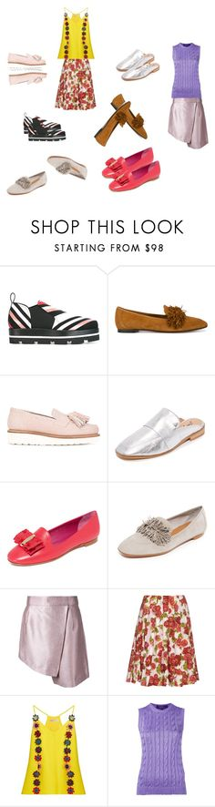 """""""Loafers..##"""" by yagna ❤ liked on Polyvore featuring MSGM, Aquazzura, Grenson, Free People, Salvatore Ferragamo, Ginger & Smart, Emilia Wickstead, Mary Katrantzou, Ralph Lauren Purple Label and vintage"""