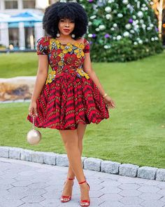 12 Ankara Styles For Ladies - African Wear Outfits Ankara Styles For Ladies - African Wear Outfits. Ankara Styles For Ladies - African Wear Outfits Short African Dresses, Latest African Fashion Dresses, Ankara Fashion, Modern African Print Dresses, Short Dresses, African Print Clothing, African Print Fashion, African Prints, Modern African Fashion