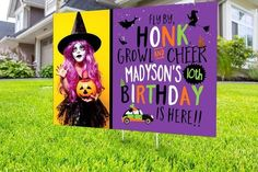 Drive by birthday parade, Digital file only, yard sign, social distancing, drive-by birthday party, Halloween birthday, quarantine party Halloween Party Favors, Halloween Birthday, 7th Birthday, Holidays Halloween, Halloween Treats, Halloween Decorations, Birthday Yard Signs, Sign Printing, Party Printables