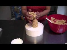 This tutorial teaches you how to use Rice Krispy Treats (RKT) for cake decorating. Tackle the problems of RKT falling apart, getting them to hold their shape. Rice Krispies, Rice Krispie Cakes, Krispie Treats, Cereal Treats, Rice Cereal, Cake Decorating Techniques, Cake Decorating Tutorials, Cupcakes, Cupcake Cakes