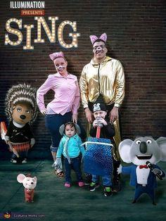 DIY Sing Characters Halloween Costume - Rosita Meena Gunter and Johnny