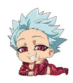 Anime Chibi, Kawaii Chibi, Kawaii Anime, Otaku Anime, Anime Art, Seven Deadly Sins Anime, Anime Love, Anime Guys, Ban Anime