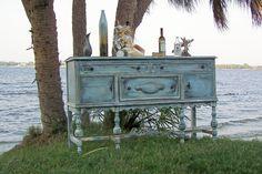 Mobile per buffet in legno decapato