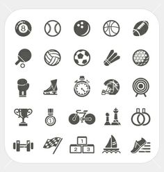 Sport icons set vector 1905275 - by amornism on VectorStock®