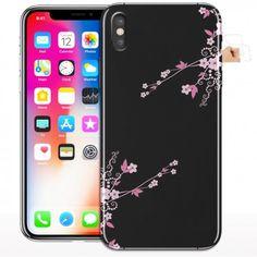 coque iphone x fleur rose rouge