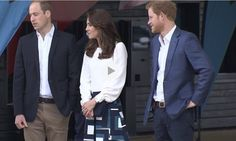 Prince William. Duchess Kate and Prince Harry.  2016