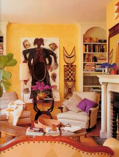 Contemporary African Furniture for Bedroom and Living Room with Vibrant Colors