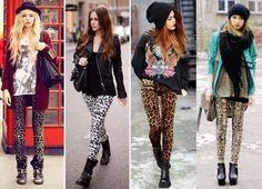 calça legging animal print para inverno