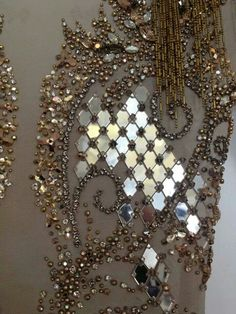 Julien macdonald, i love the diamond shaped sequins and the dangling beading