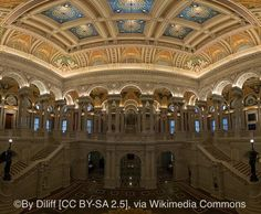 More than 151 million items, including the largest rare book collection in North America, are stored at three buildings that make up the Library of Congress. Adjacent to the U.S. Capitol, only researchers may enter the reading rooms, but visitors may peruse some highlights of the collection, such as the Gutenberg Bible and Thomas Jefferson's personal book collection.