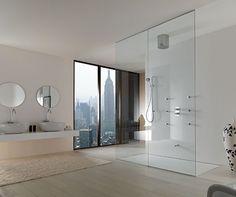 bathroom designs with walk in shower   Open Shower Design Small Bathrooms: