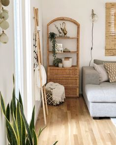 New wicker shelf can stay, for now. Gotta sell some stuff soon though- running out of room! Cane Shelf, Boho Bedroom Decor, Bedroom Inspo, Wicker Shelf, Living Spaces, Living Room, Rattan Furniture, Aesthetic Rooms, New Room