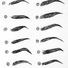 What's your favourite brow? I like 4, 9 & 10. Wish my brows were 9 though, find them such a flattering shape