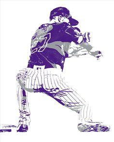Trevor Story COLORADO ROCKIES PIXEL ART 11 Art Print by Joe Hamilton. All prints are professionally printed, packaged, and shipped within 3 - 4 business days. Softball Pitcher, Joe Hamilton, Rockies Baseball, Thing 1, Fastpitch Softball, Colorado Rockies, Cleveland Indians, Baseball Players, Diamond Are A Girls Best Friend