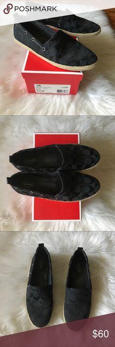 Black Coach Espadrilles Black Coach espadrilles shoes. Closet staple for summer. Coach Shoes Espadrilles