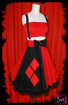 Harley Quinn Batman Gotham Princess Corset by TheVintageDoctor
