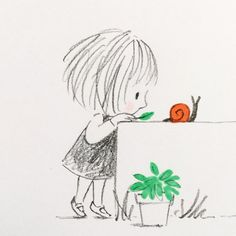 jane massey's pictures make me want to hug myself is part of pencil-drawings - illustrator Jane Massey &n… Doodle Drawings, Easy Drawings, Doodle Art, Drawing Sketches, Pencil Drawings, Doodles, Art Et Illustration, Cute Art, Painting & Drawing