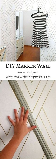 wall - DIY faux wallpaper project - cheap and quick DIY accent wall, sharpie wall. On a budget cheap affordable room makeover. On a budget cheap affordable room makeover. Wallpaper Azul, Wallpaper Samsung, Painted Wallpaper, Wallpaper Ideas, Wall Wallpaper, Sharpie Wall, Dyi, Diy Home Decor On A Budget, Trendy Home