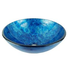 Shop for Fontaine Stratosphere Blue Crackle Foil Leaf Glass Vessel Sink. Get free shipping at Overstock.com - Your Online Home Improvement Outlet Store! Get 5% in rewards with Club O!