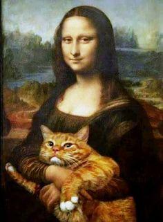 Mona Lisa  e il suo gattone