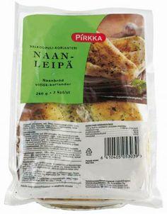 Esipaistettu naanleipä, merkillä tai mausteilla ei väliä. Ihan se ei-millään-maustettukin kelpaa oikein hyvin.