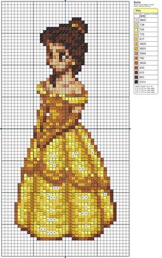 This is a cross-stitching pattern.  Perfect for translating into Perler form.