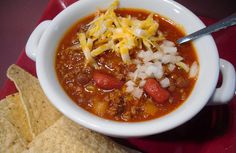 Crock Pot Copycat Wendy's Chili - YUMMY!  www.getcrocked.com