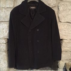 Men's Pea Coat NWOT Never worn. In perfect condition! NWOT Kenneth Cole Reaction Jackets & Coats Pea Coats