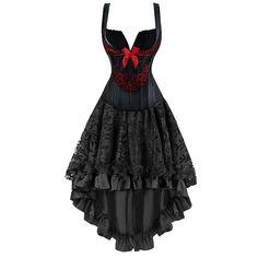 Victorian Gothic Dancing Corset Skirt Set