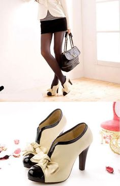 Hot Fashion Sexy Women Lady High Heel Tie Platform Bow Pump Ankle Shoes Boots