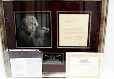 Genuine 1940 Albert Einstein AUTOGRAPH on Letter To Dr. Simon Ginzburg Framed