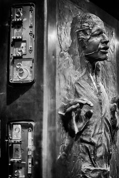Unique view of HAN SOLO in Carbonite. Photo by Lynn H. Armstrong. This photo was taken in Montreal, QC, Canada, at the Montreal Science Centre in the summer of 2012.