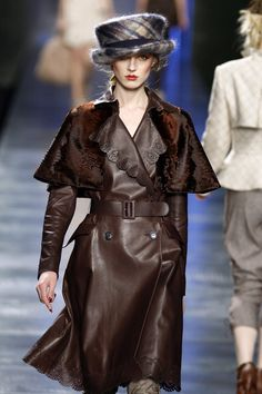 Christian Dior Fall 2010 / Ulster (long belted coat made with removable shoulder cape) inspired coat