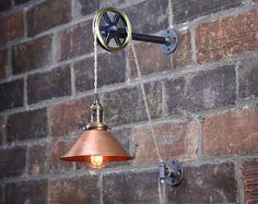 Lámpara de pared de pared industrial lámpara por newwineoldbottles