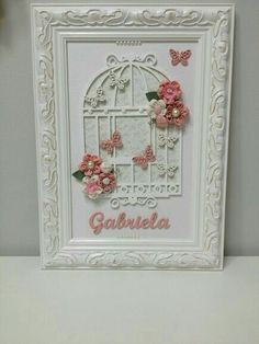 New Crafts, Diy And Crafts, Arts And Crafts, Paper Crafts, Baby Frame, Shabby Chic Crafts, Frame Crafts, Baby Kind, Box Frames